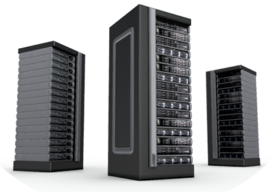 Image of servers in racks